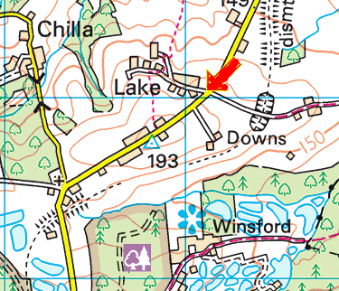 Horizon dartmoor from halwill junction map.png