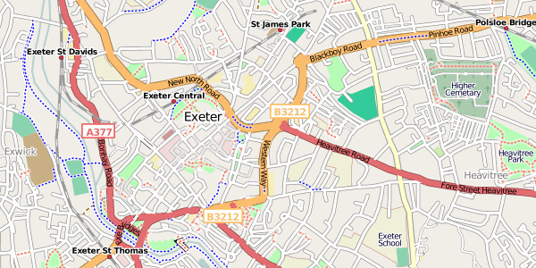 Open street map central exeter.png