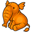 File:Orange elephant logo.png